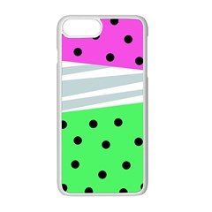 Dots And Lines, Mixed Shapes Pattern, Colorful Abstract Design Iphone 8 Plus Seamless Case (white) by Casemiro
