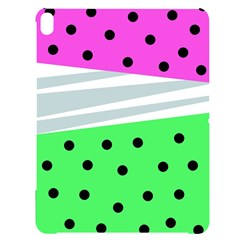 Dots And Lines, Mixed Shapes Pattern, Colorful Abstract Design Apple Ipad Pro 12 9   Black Uv Print Case by Casemiro