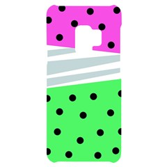 Dots And Lines, Mixed Shapes Pattern, Colorful Abstract Design Samsung S9 Black Uv Print Case by Casemiro