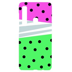 Dots And Lines, Mixed Shapes Pattern, Colorful Abstract Design Samsung A9 Black Uv Print Case by Casemiro