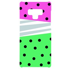 Dots And Lines, Mixed Shapes Pattern, Colorful Abstract Design Samsung Note 9 Black Uv Print Case  by Casemiro