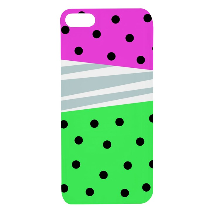 Dots and lines, mixed shapes pattern, colorful abstract design Apple iPhone 7/8 TPU UV Case
