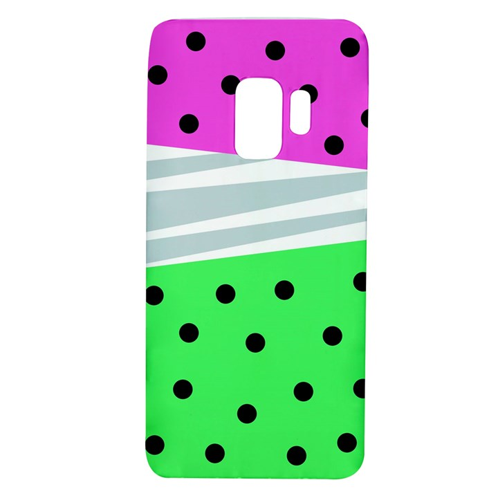 Dots and lines, mixed shapes pattern, colorful abstract design Samsung Galaxy S9 TPU UV Case