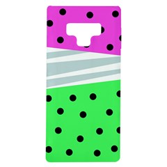Dots And Lines, Mixed Shapes Pattern, Colorful Abstract Design Samsung Galaxy Note 9 Tpu Uv Case by Casemiro
