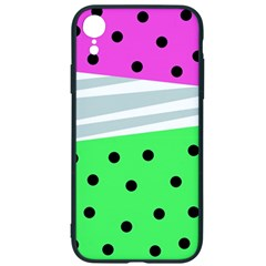 Dots And Lines, Mixed Shapes Pattern, Colorful Abstract Design Iphone Xr Soft Bumper Uv Case by Casemiro