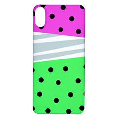 Dots And Lines, Mixed Shapes Pattern, Colorful Abstract Design Iphone X/xs Soft Bumper Uv Case by Casemiro