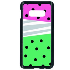Dots And Lines, Mixed Shapes Pattern, Colorful Abstract Design Samsung Galaxy S10e Seamless Case (black) by Casemiro