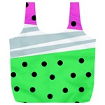 Dots and lines, mixed shapes pattern, colorful abstract design Full Print Recycle Bag (XXL) Back