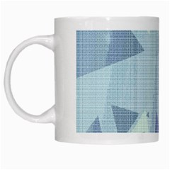 Light Blue Green Grey Dotted Abstract White Mugs
