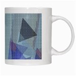 Light Blue Green Grey Dotted Abstract White Mugs Right