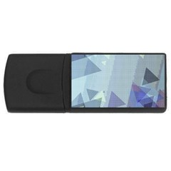 Light Blue Green Grey Dotted Abstract Rectangular Usb Flash Drive