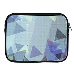 Light Blue Green Grey Dotted Abstract Apple Ipad 2/3/4 Zipper Cases