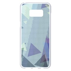 Light Blue Green Grey Dotted Abstract Samsung Galaxy S8 Plus White Seamless Case