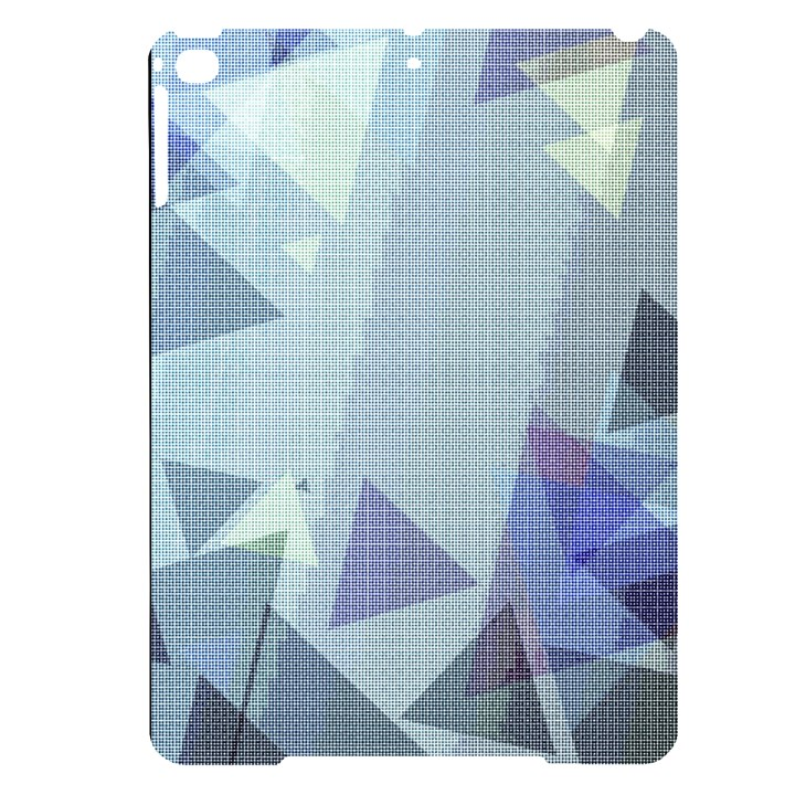 Light Blue Green Grey Dotted Abstract Apple iPad Pro 9.7   Black UV Print Case