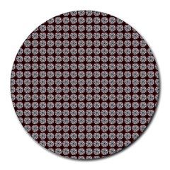 Red Halloween Spider Tile Pattern Round Mousepads