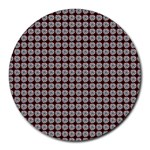 Red Halloween Spider Tile Pattern Round Mousepads Front