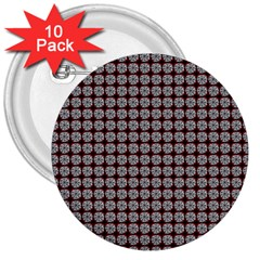 Red Halloween Spider Tile Pattern 3  Buttons (10 Pack)  by snowwhitegirl