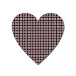 Red Halloween Spider Tile Pattern Heart Magnet Front