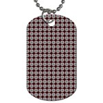 Red Halloween Spider Tile Pattern Dog Tag (One Side) Front