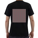 Red Halloween Spider Tile Pattern Men s T-Shirt (Black) (Two Sided) Back