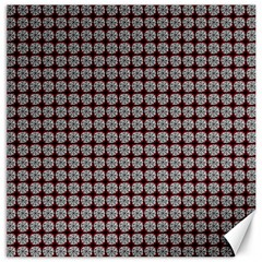 Red Halloween Spider Tile Pattern Canvas 12  X 12  by snowwhitegirl