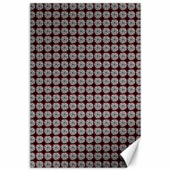 Red Halloween Spider Tile Pattern Canvas 24  X 36  by snowwhitegirl