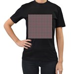 Red Halloween Spider Tile Pattern Women s T-Shirt (Black) Front