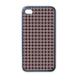 Red Halloween Spider Tile Pattern iPhone 4 Case (Black) Front
