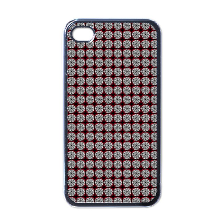 Red Halloween Spider Tile Pattern iPhone 4 Case (Black)