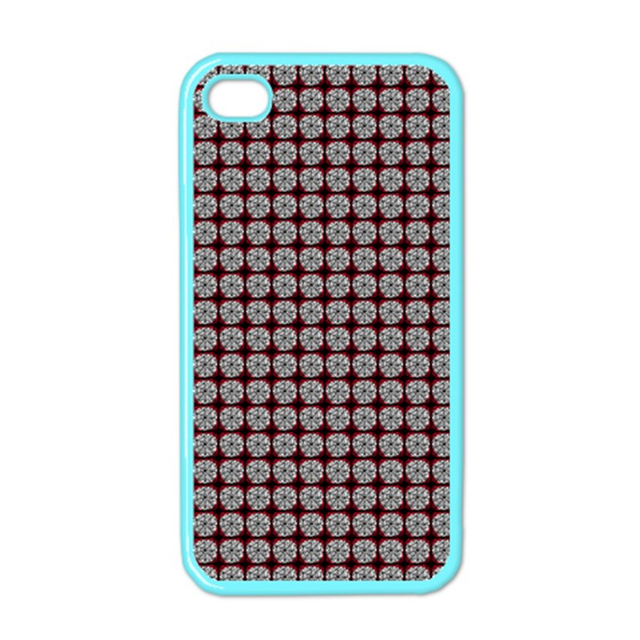 Red Halloween Spider Tile Pattern iPhone 4 Case (Color)