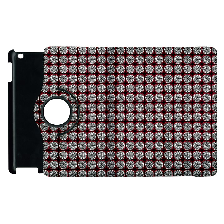 Red Halloween Spider Tile Pattern Apple iPad 3/4 Flip 360 Case