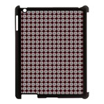 Red Halloween Spider Tile Pattern Apple iPad 3/4 Case (Black) Front