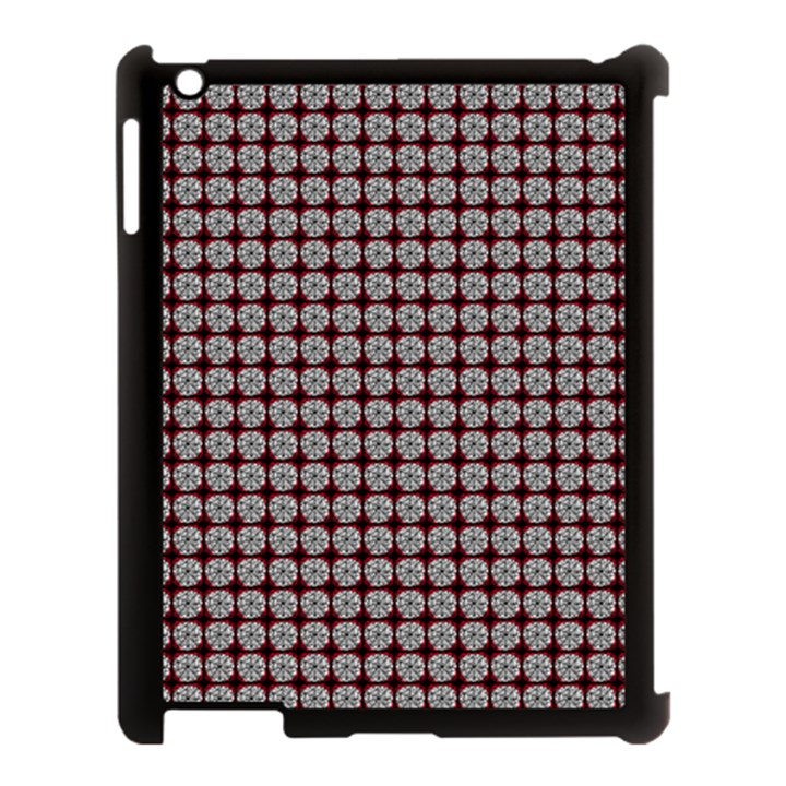Red Halloween Spider Tile Pattern Apple iPad 3/4 Case (Black)