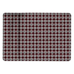 Red Halloween Spider Tile Pattern Samsung Galaxy Tab 10 1  P7500 Flip Case by snowwhitegirl