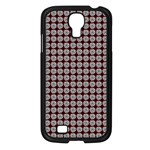 Red Halloween Spider Tile Pattern Samsung Galaxy S4 I9500/ I9505 Case (Black) Front