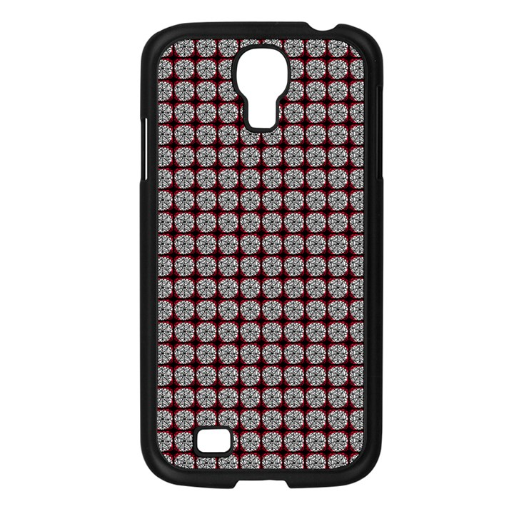 Red Halloween Spider Tile Pattern Samsung Galaxy S4 I9500/ I9505 Case (Black)