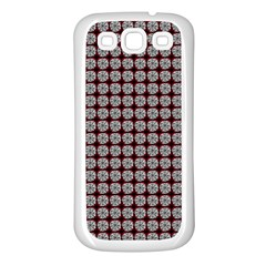 Red Halloween Spider Tile Pattern Samsung Galaxy S3 Back Case (white)