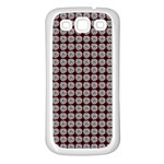 Red Halloween Spider Tile Pattern Samsung Galaxy S3 Back Case (White) Front