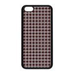 Red Halloween Spider Tile Pattern iPhone 5C Seamless Case (Black) Front