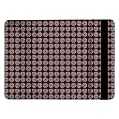 Red Halloween Spider Tile Pattern Samsung Galaxy Tab Pro 12 2  Flip Case by snowwhitegirl
