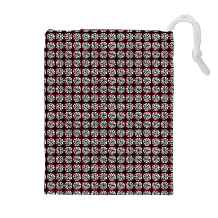 Red Halloween Spider Tile Pattern Drawstring Pouch (XL)