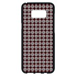 Red Halloween Spider Tile Pattern Samsung Galaxy S8 Plus Black Seamless Case Front