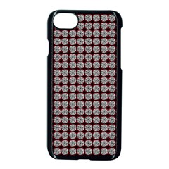 Red Halloween Spider Tile Pattern Iphone 8 Seamless Case (black)