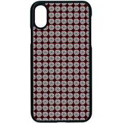 Red Halloween Spider Tile Pattern Iphone Xs Seamless Case (black)