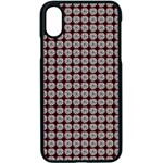 Red Halloween Spider Tile Pattern iPhone XS Seamless Case (Black) Front