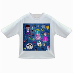 Blue Denim And Drawings Infant/Toddler T-Shirts