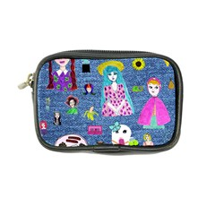 Blue Denim And Drawings Coin Purse