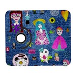 Blue Denim And Drawings Samsung Galaxy S  III Flip 360 Case Front
