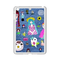 Blue Denim And Drawings iPad Mini 2 Enamel Coated Cases