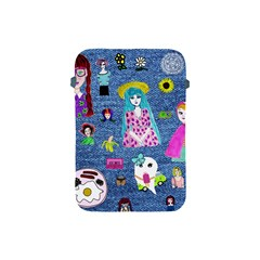 Blue Denim And Drawings Apple iPad Mini Protective Soft Cases